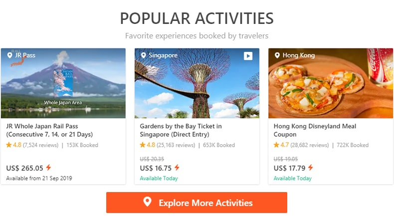 Klook.com - simple way to discover activities, attractions and things to do wherever you travel