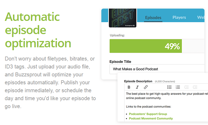Buzzsprout - Free podcast hosting