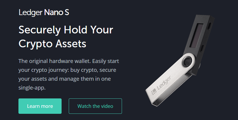 Ledger - The most secured cypto hardware wallet