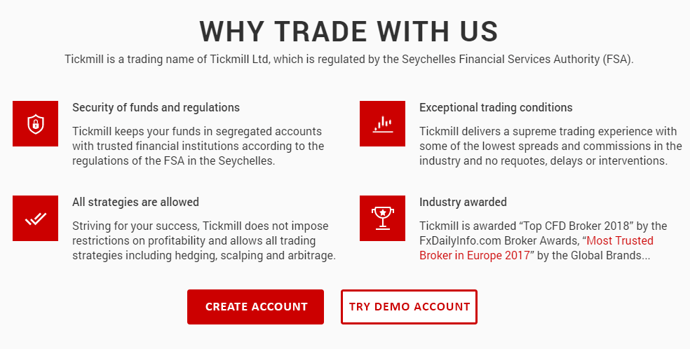 TickMill - Global forex and cfd broker