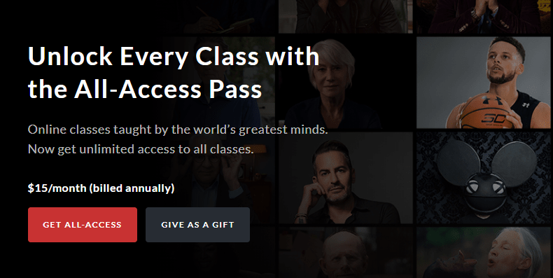 Master Class - Online courses