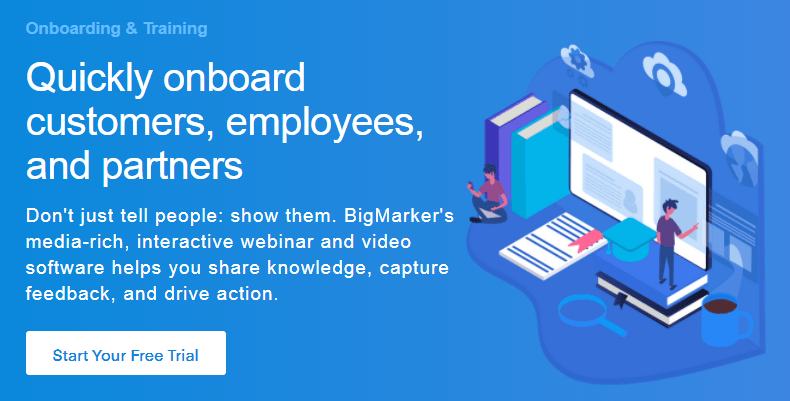 Big marker - The #1 Video Platform for Webinars