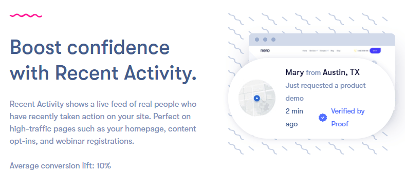 Proof - Real-time social proof software for your marketing funnels